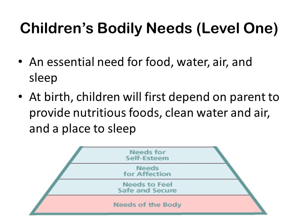 Children's Bodily Needs (Level One)
