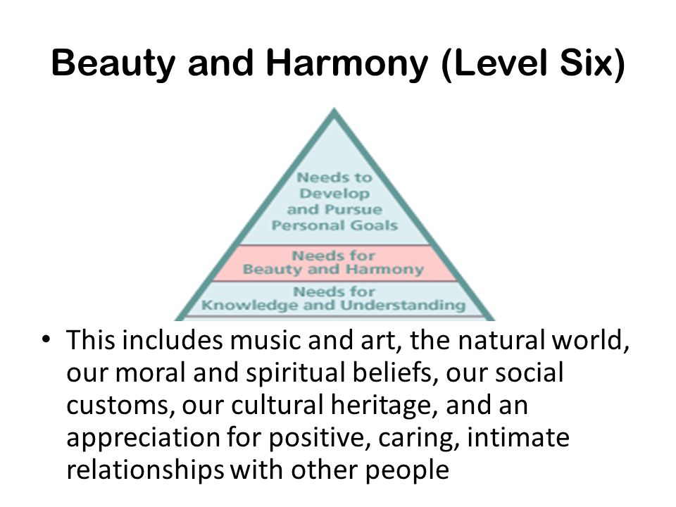 Beauty and Harmony (Level Six)