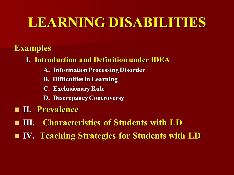 Teaching Children With Learning Disabilities Ppt Download