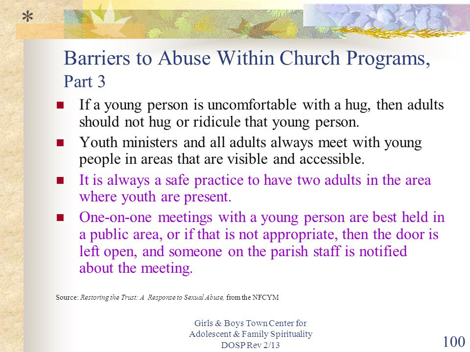Barriers to Abuse Within Church Programs, Part 3