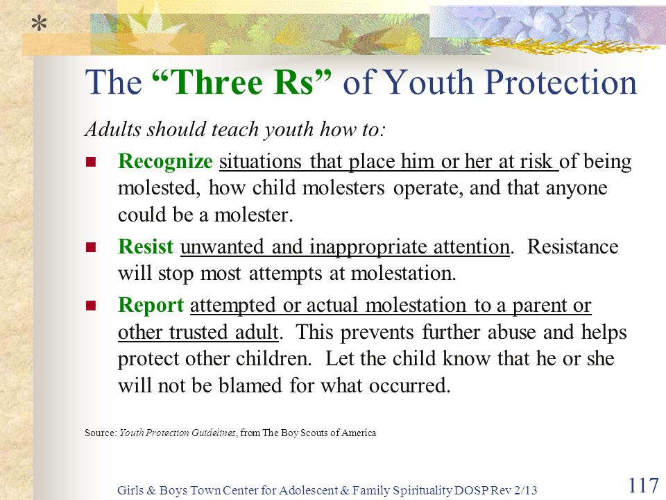 The Three Rs of Youth Protection