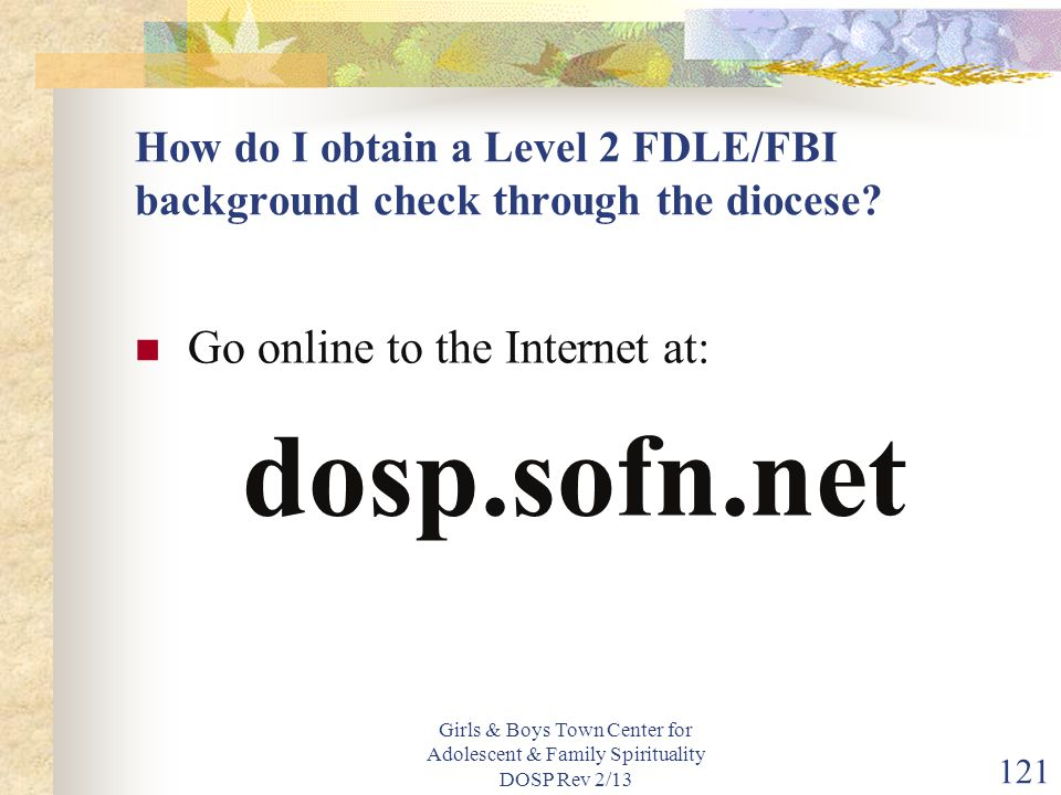 dosp.sofn.net Go online to the Internet at: