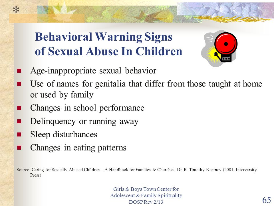 Behavioral Warning Signs of Sexual Abuse In Children