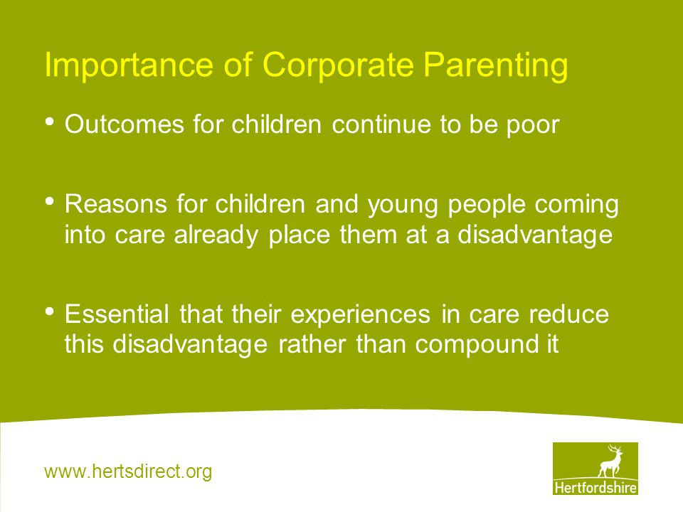 Importance of Corporate Parenting