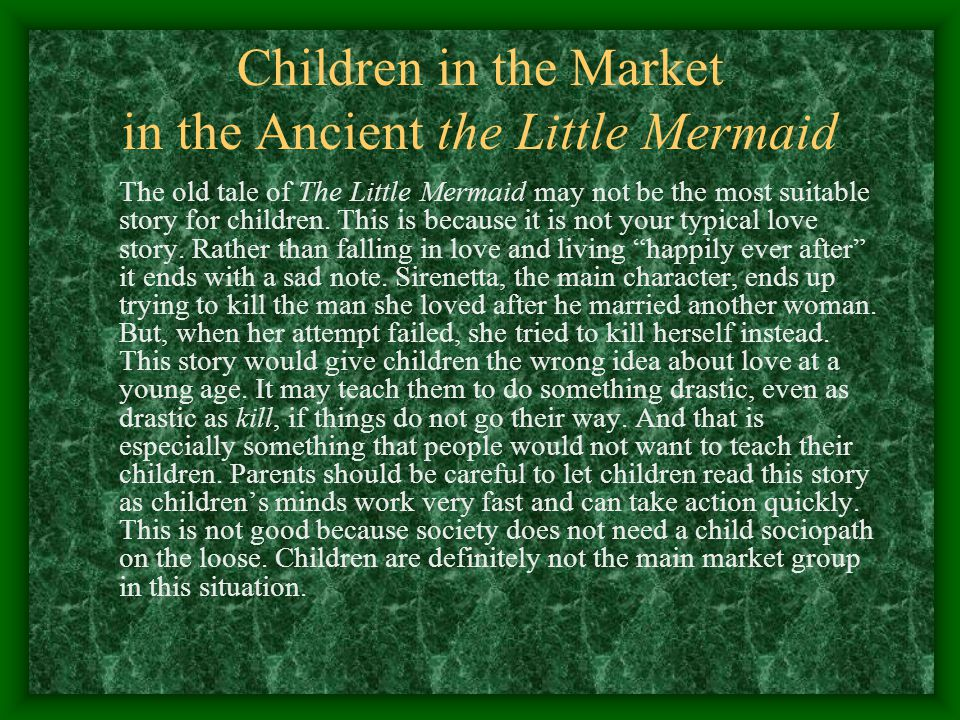 Children in the Market in the Ancient the Little Mermaid