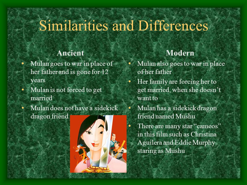 Similarities and Differences