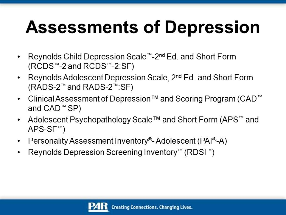 Assessments of Depression