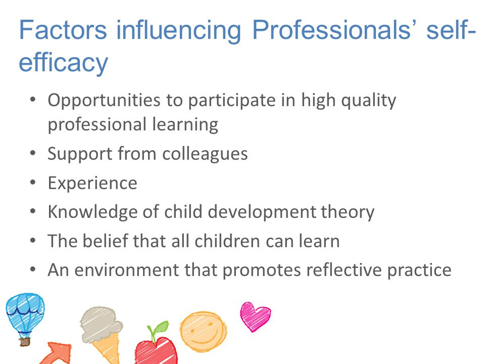Factors influencing Professionals' self-efficacy