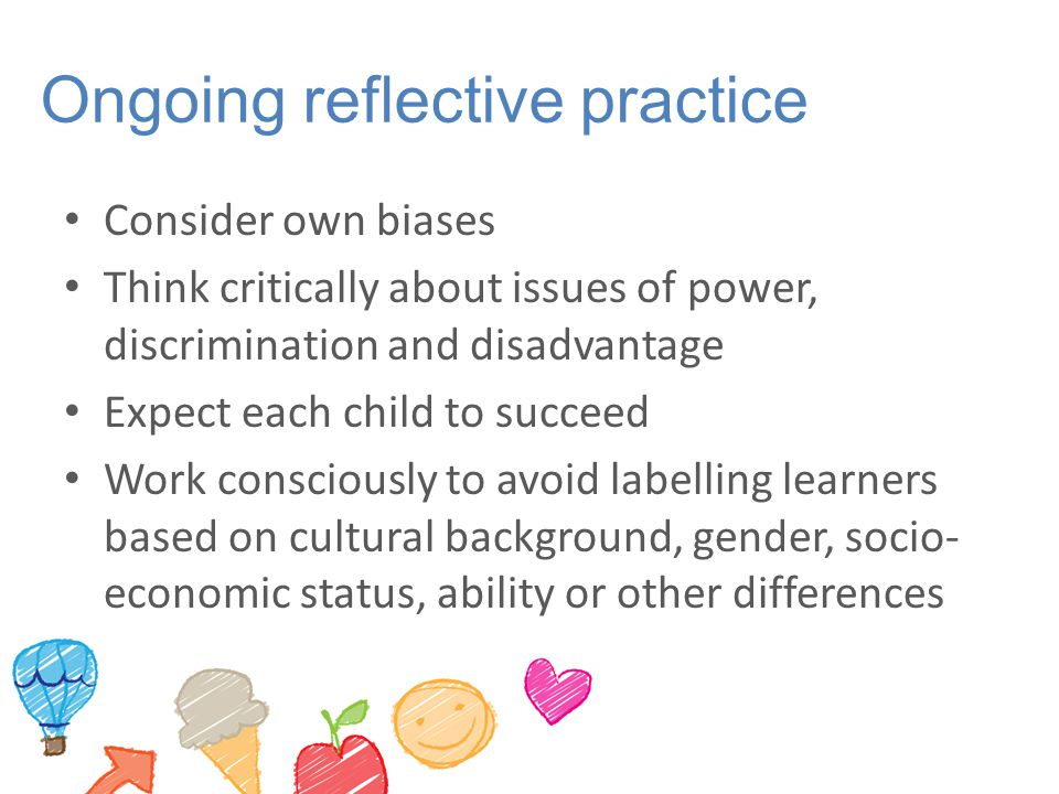 Ongoing reflective practice