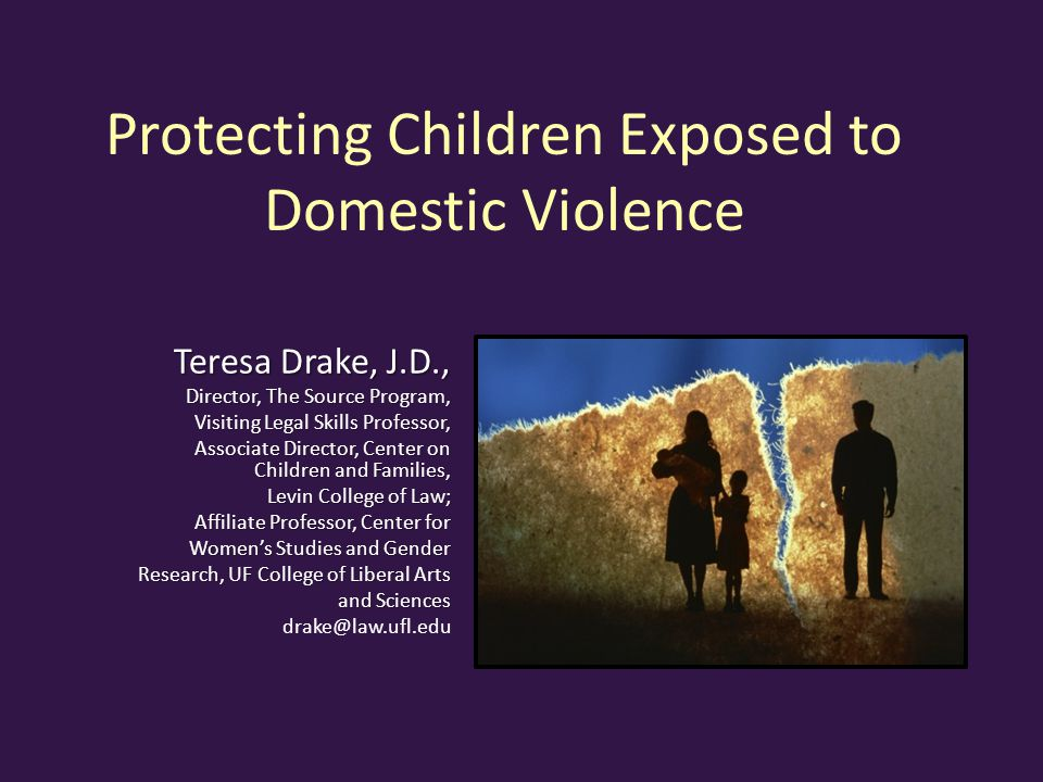 Protecting Children Exposed to Domestic Violence