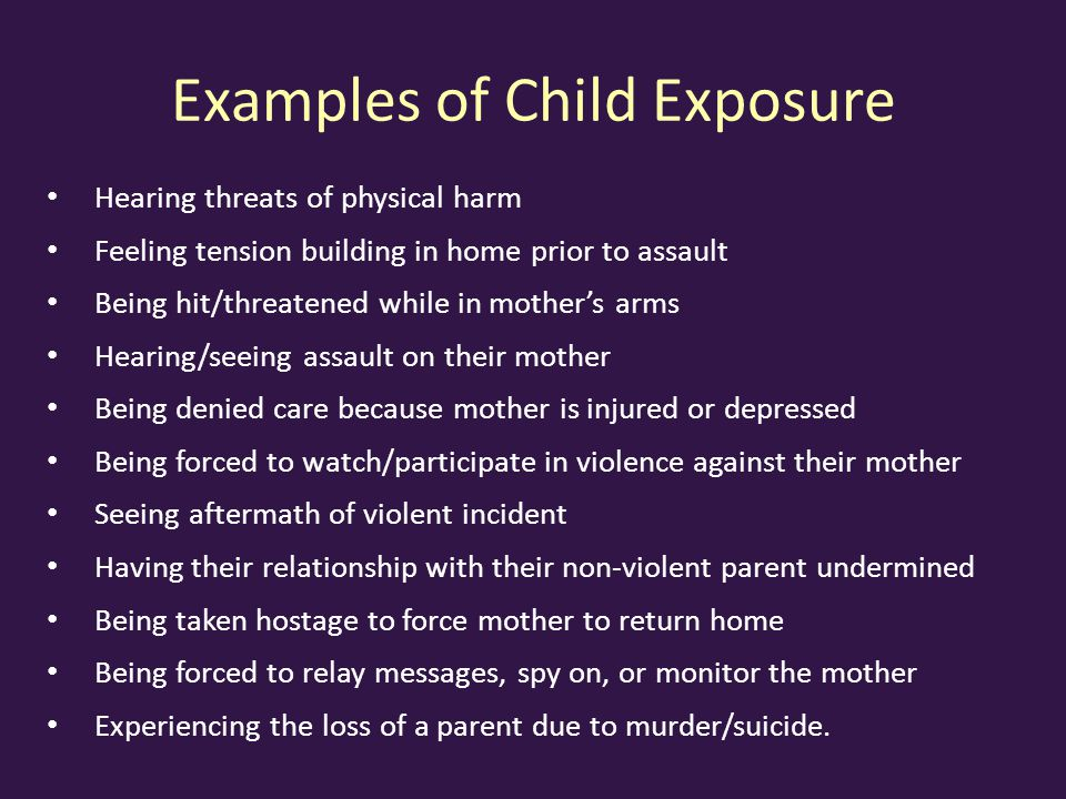 Examples of Child Exposure