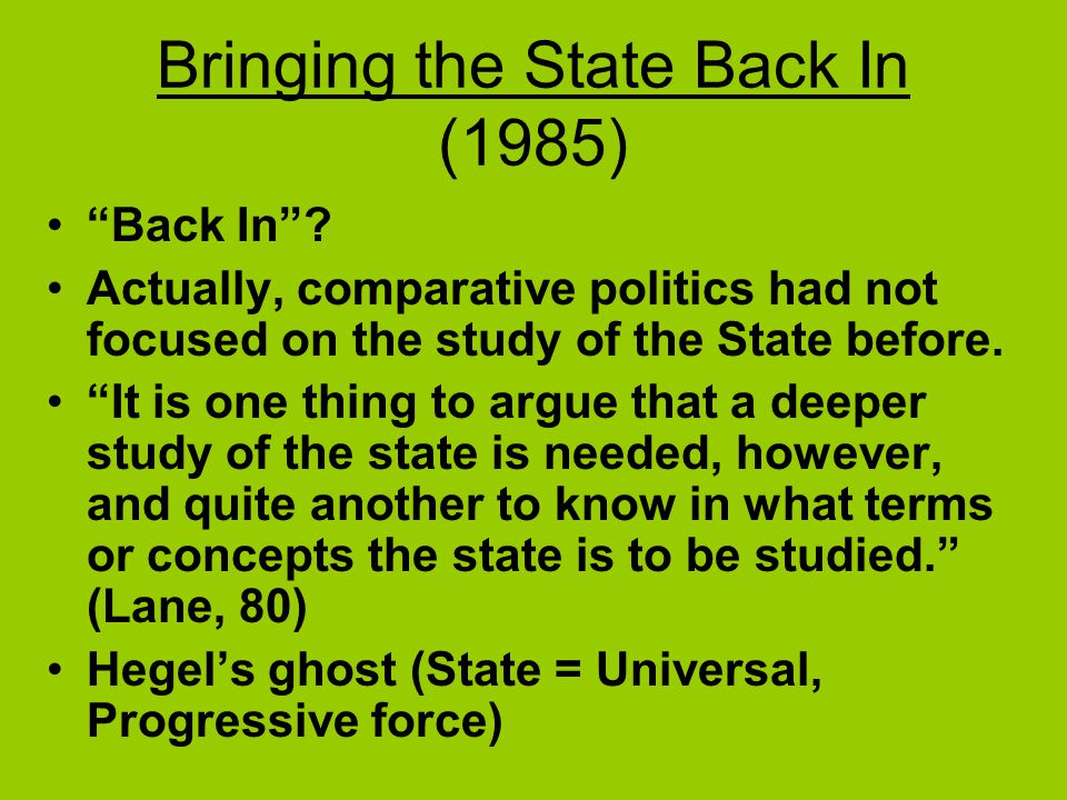 Bringing the State Back In (1985)