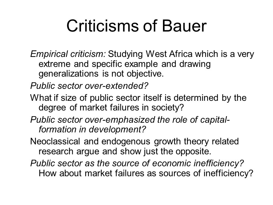 Criticisms of Bauer