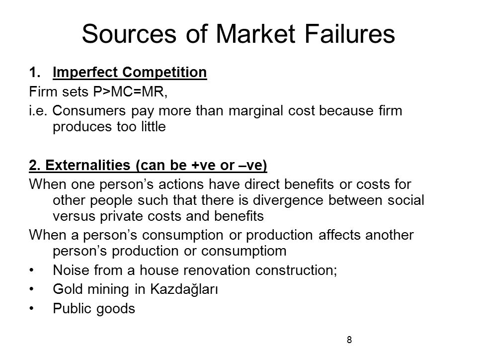 Sources of Market Failures