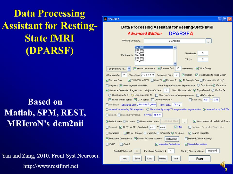 Data Processing Assistant for Resting-State fMRI (DPARSF)