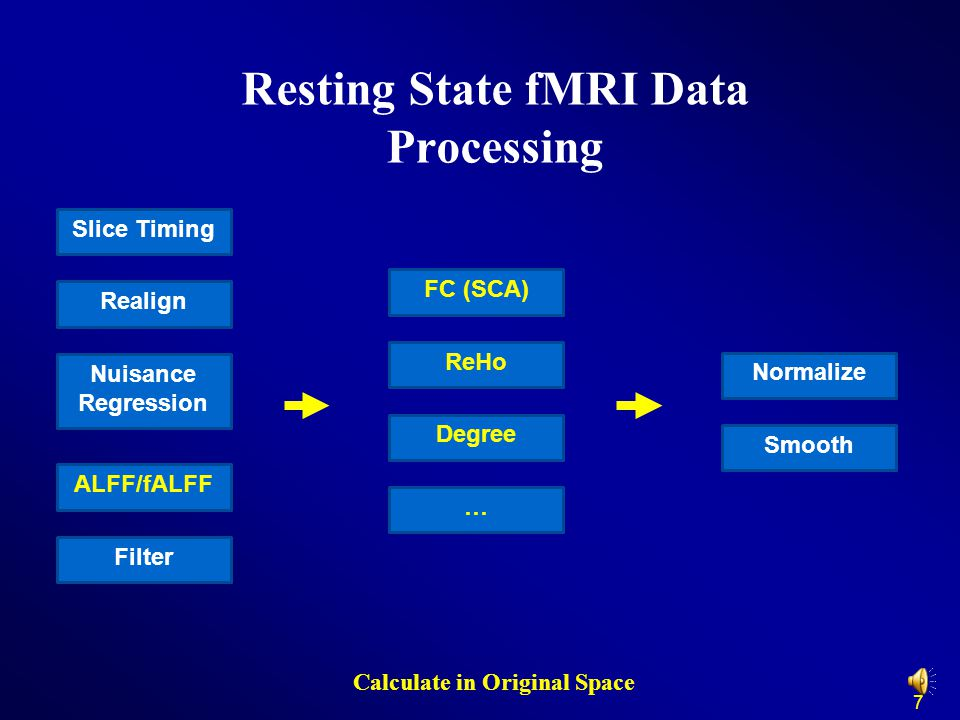 Resting State fMRI Data Processing