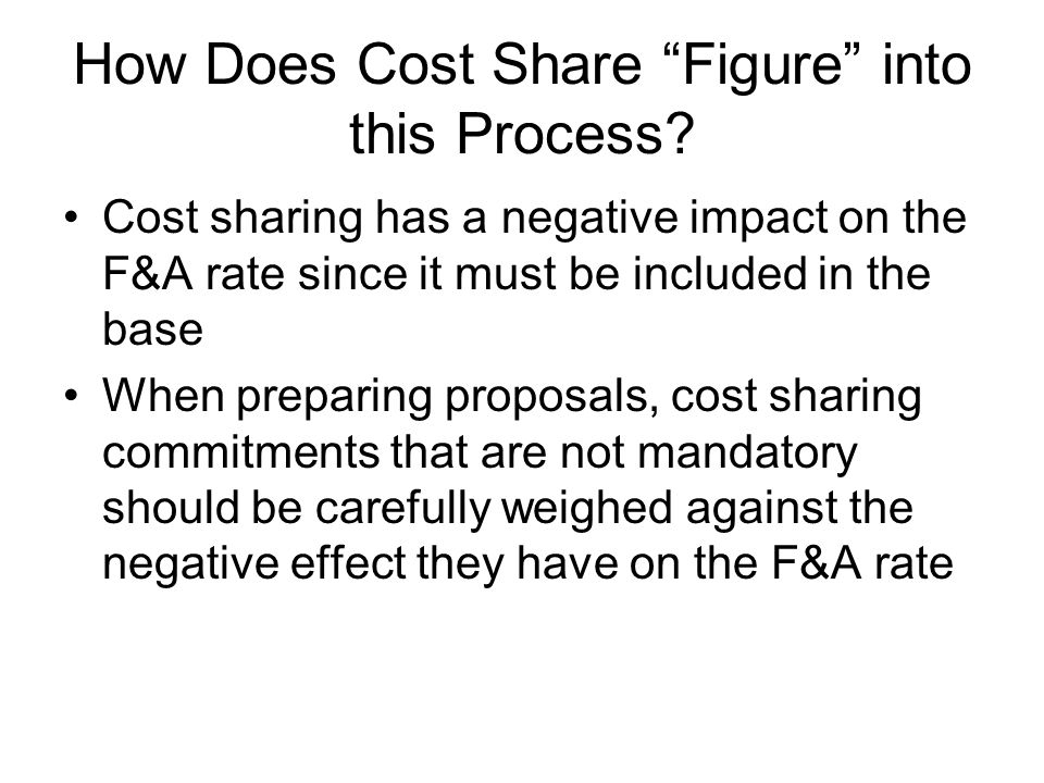 How Does Cost Share Figure into this Process