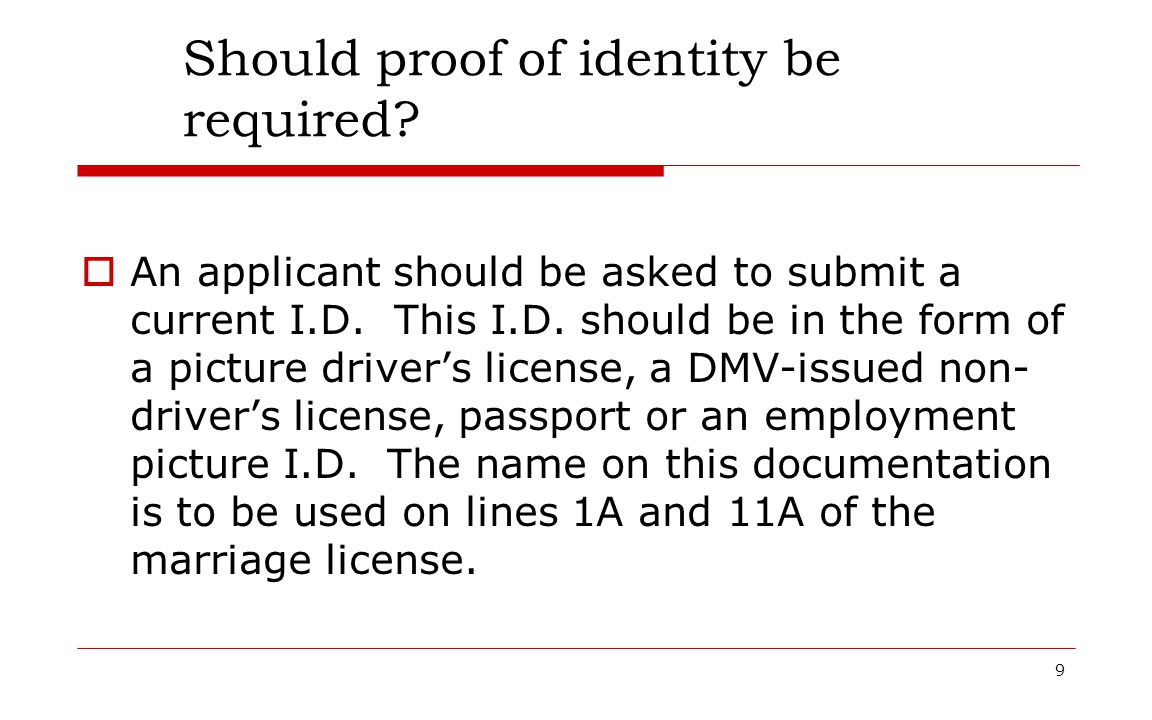 Should proof of identity be required
