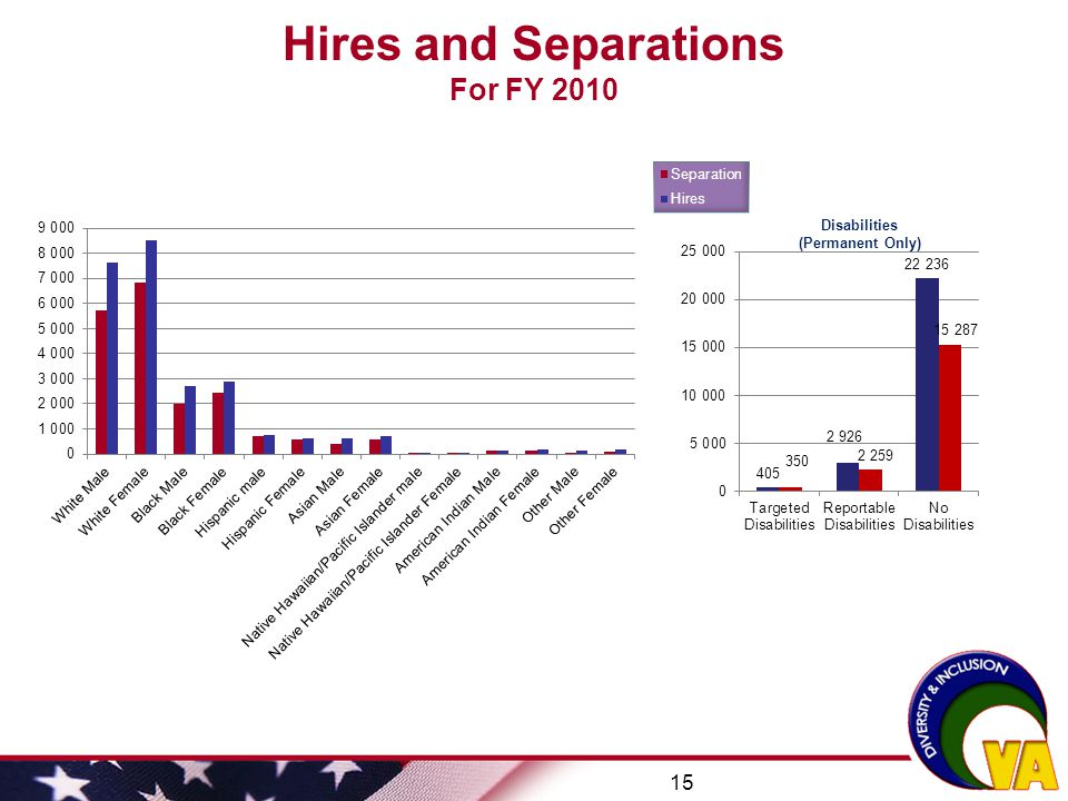 Hires and Separations For FY 2010