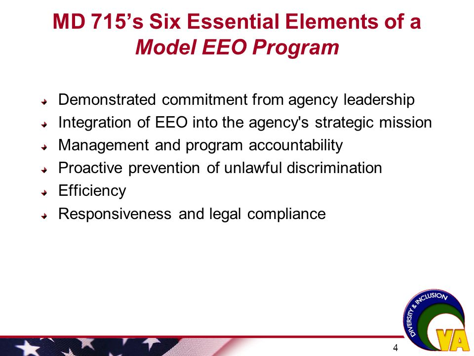 MD 715's Six Essential Elements of a Model EEO Program
