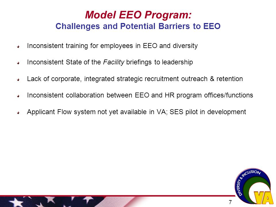 Model EEO Program: Challenges and Potential Barriers to EEO