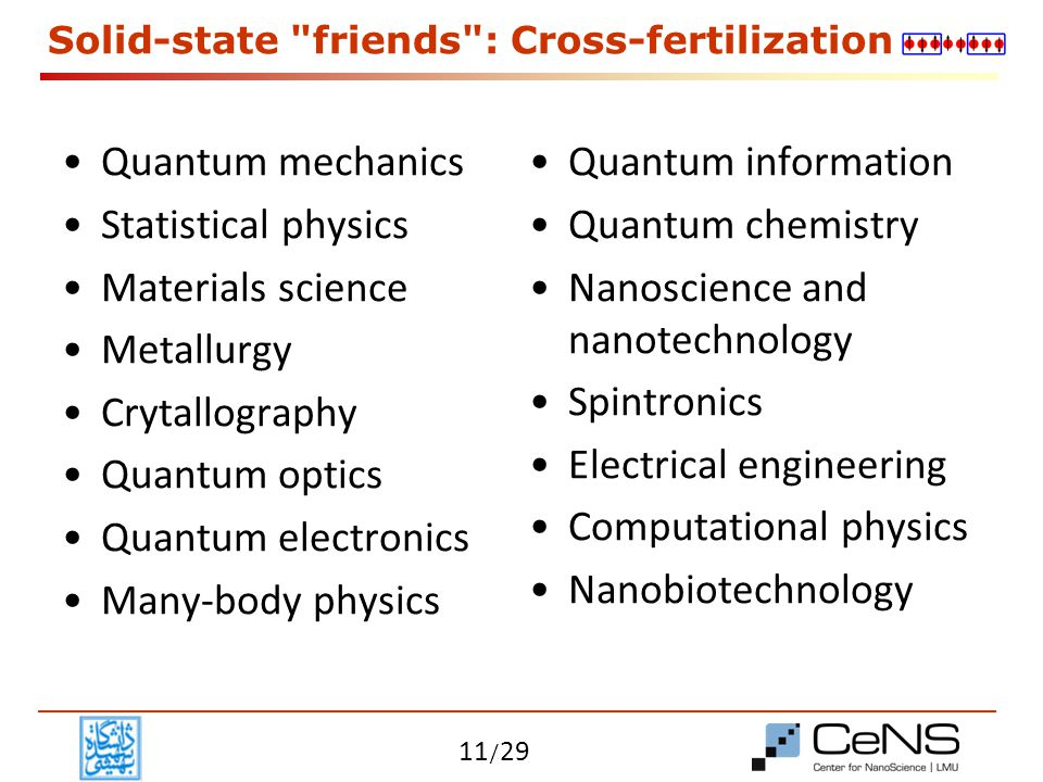 Solid-state friends : Cross-fertilization