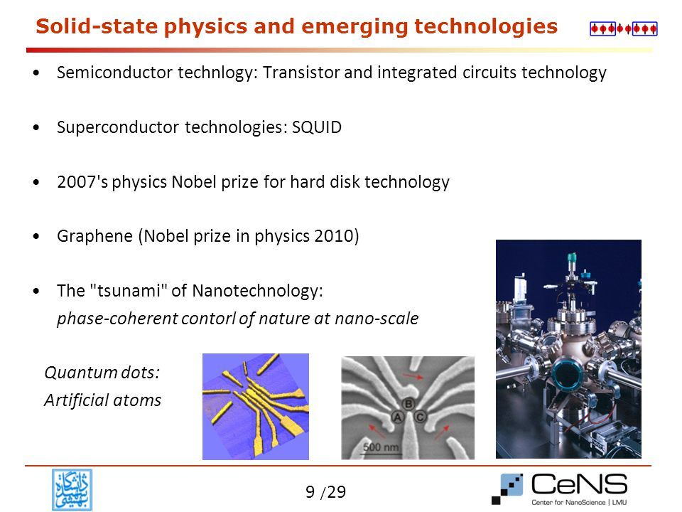 Solid-state physics and emerging technologies