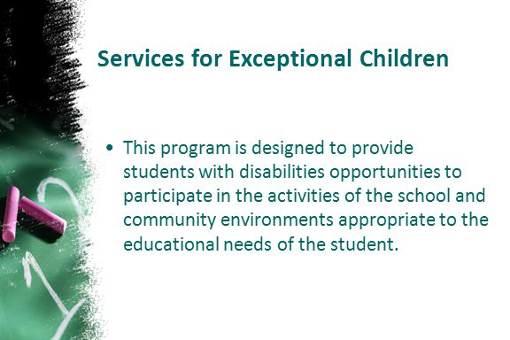 Services for Exceptional Children