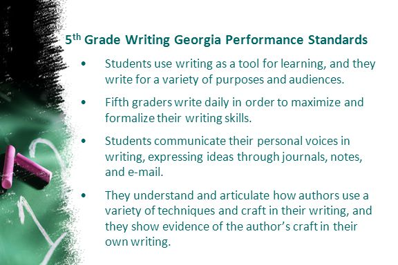 5th Grade Writing Georgia Performance Standards
