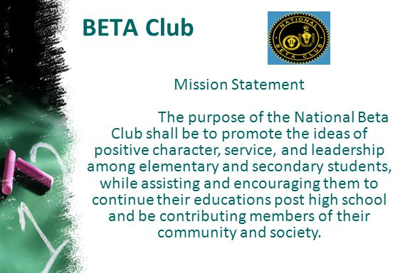 BETA Club Mission Statement