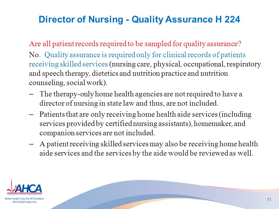 Director of Nursing - Quality Assurance H 224