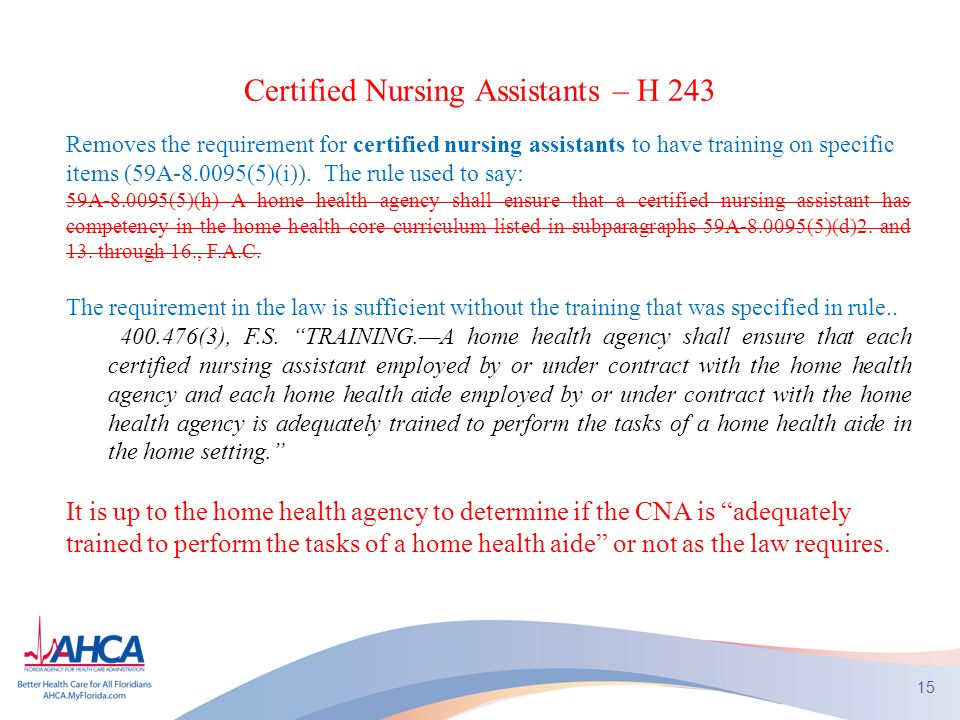 Certified Nursing Assistants – H 243