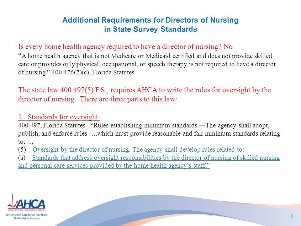 Is every home health agency required to have a director of nursing No