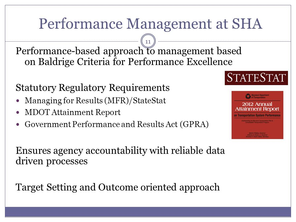 Performance Management at SHA