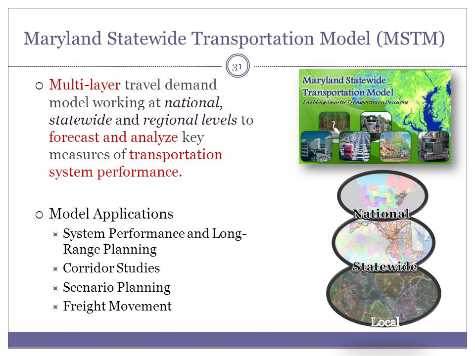Maryland Statewide Transportation Model (MSTM)