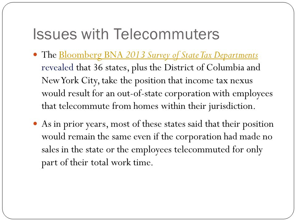 Issues with Telecommuters