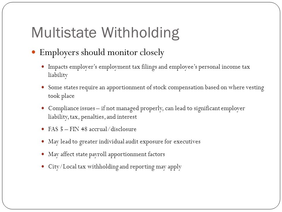 Multistate Withholding