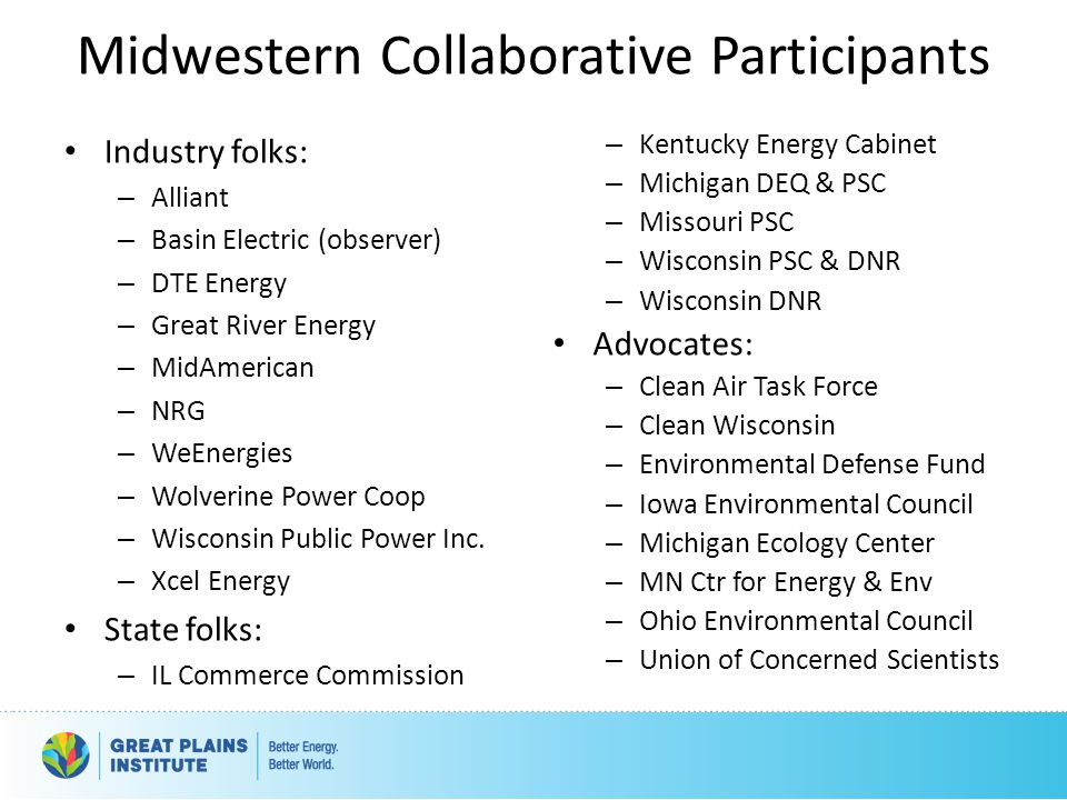 Midwestern Collaborative Participants