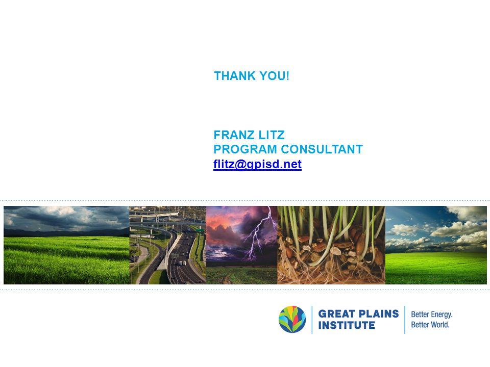 Thank You! Franz Litz Program consultant