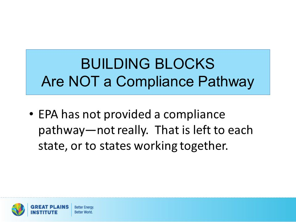 Are NOT a Compliance Pathway
