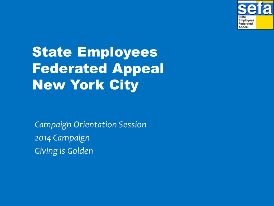 State Employees Federated Appeal New York City