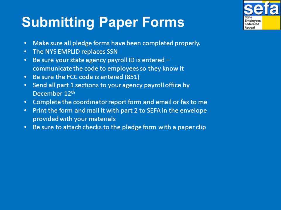 Submitting Paper Forms