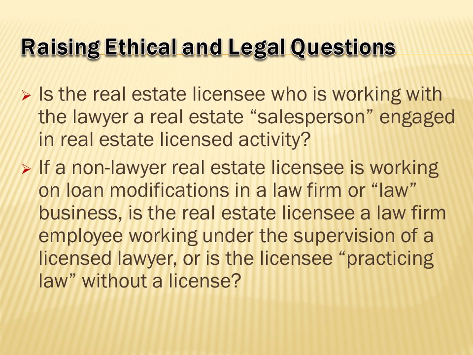 Raising Ethical and Legal Questions