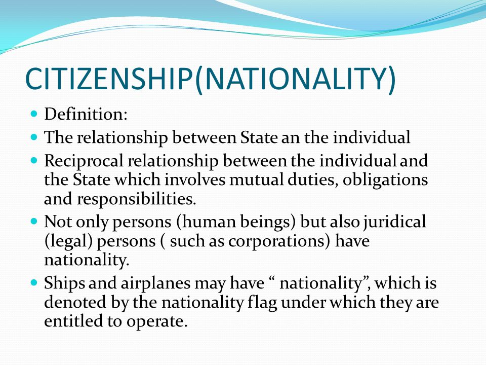 CITIZENSHIP(NATIONALITY)