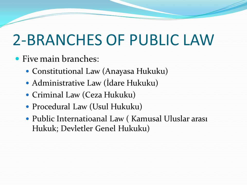 2-BRANCHES OF PUBLIC LAW
