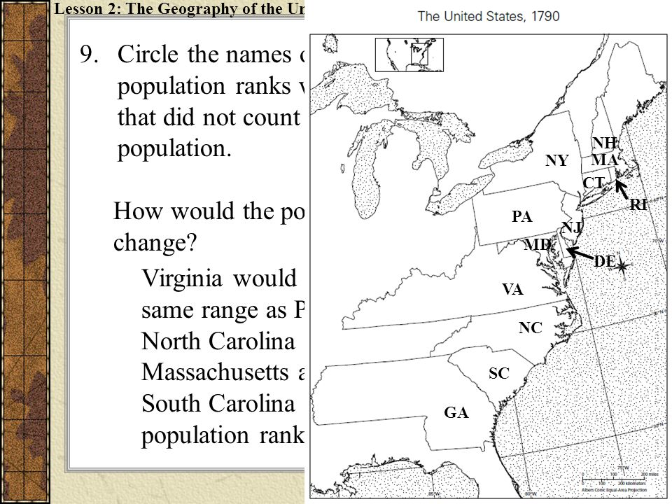 How would the population rank of each state change