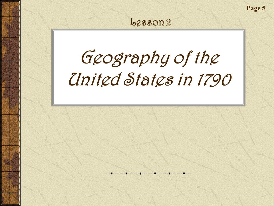 Geography of the United States in 1790