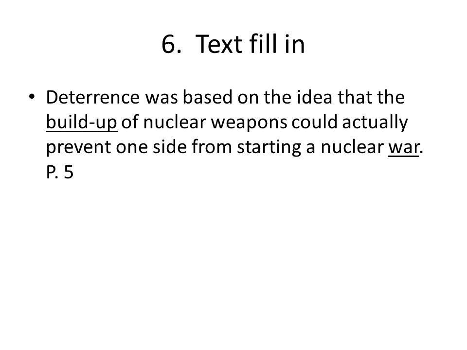 6. Text fill in