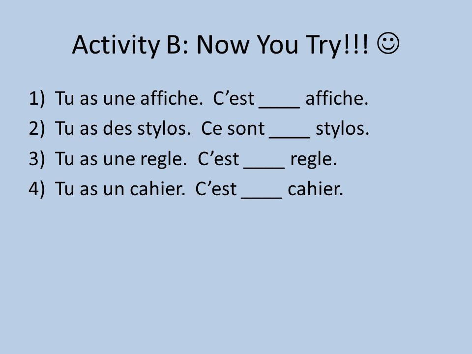 Activity B: Now You Try!!! 
