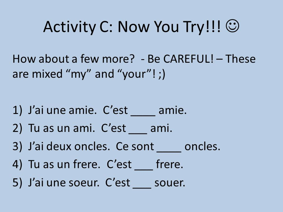 Activity C: Now You Try!!! 